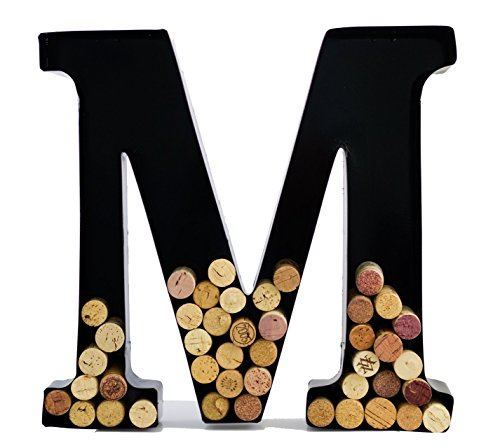 Wine Cork Holder - Metal Monogram Letter (M)]()