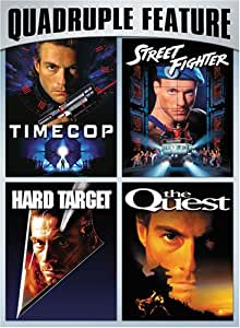 Van Damme Action Pack Quadruple Feature: Timecop / Hard Target / Street Fighter / The Quest