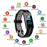 Smart Watch, Smart Bracelet with Heart Rate Blood Pressure Sleep Monitor for IOS Android, Slim Waterproof Fitness Tracker with Call Message Reminder, Heart Rate Alarm Fitness Watch for Man Women Kids