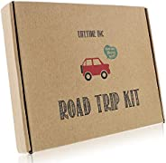 Road Trip Travel Games Activities- Dry Erase Countdown Cards Map Reusable Markers Car Games On The Go for Family Kids Teen G