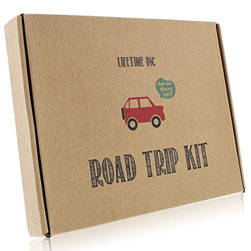 Road Trip Travel Games Activities- Dry Erase Countdown Cards Map Reusable Markers Car Games On The Go for Family Kids Teen Girls Boys License Plate Hangman Tic Tac Toe Dots Battleship Airplane