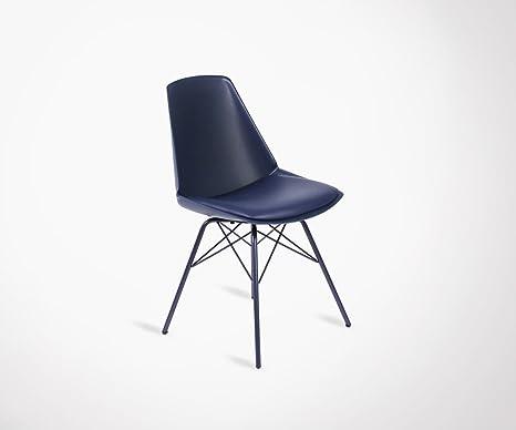 Sedie Blu Elettrico : Sedia piedi metallo seduta imbottita anji colori a scelta colore