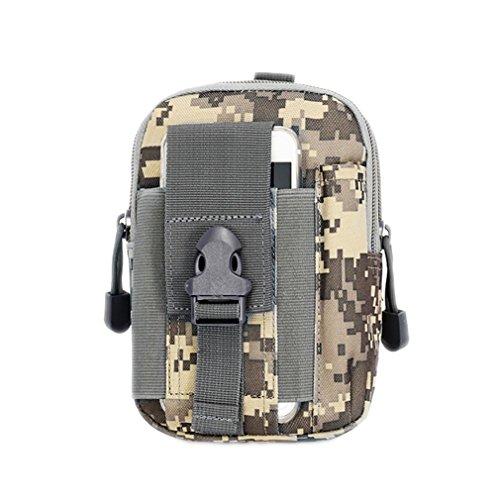 DWEFVS Sport Outdoor Climbing Unisex Holster Military Waist Hip Bag Small Pocket Waist Belt Bag ACU by DWEFVS