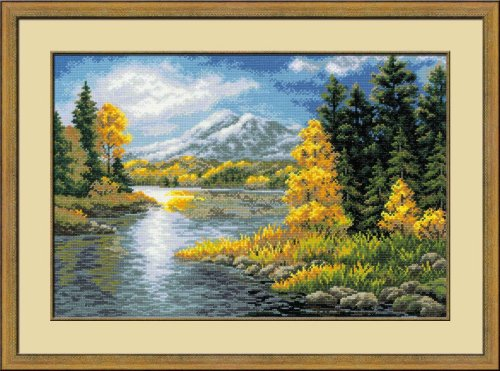 RIOLIS 1235 - Lake In The Mountains- Counted Cross Stitch Ki