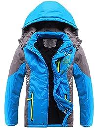 Ausom Fashion 2017 Winter Latest Boys Thicken Fleece Hooded Jacket Autumn Spring Blue, 12 (Tag 160)