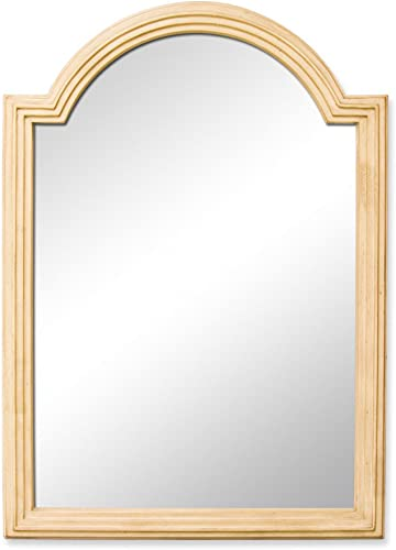 Elements MIR028 Compton Collection 36 Inch Bath Mirror, Painted Buttercream Finish