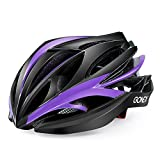 Gonex Bike Helmet, Road Mountain Adult Helmet Black+Purple For Sale