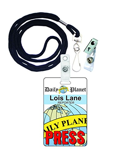 Lois Lane, Superman,Novelty ID Badge Film Prop for Costume and Cosplay • Halloween and Party (Clark And Lois Costumes)