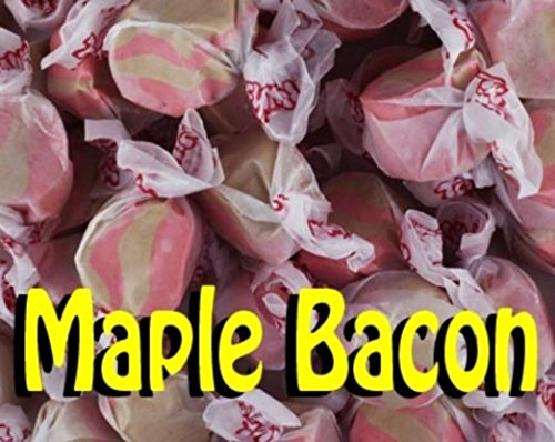 5 LB. Maple Bacon (Brown and Pink Striped) Salt Water Taffy - Gourmet Taffy by Taffy (5 Lb Taffy Candy)
