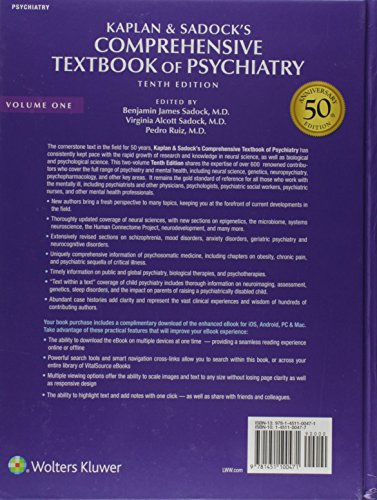 Kaplan and Sadock's Comprehensive Textbook of Psychiatry (2 Volume Set)