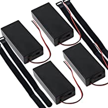 abcGoodefg 3.7V 18650 Battery Holder Case Plastic Battery Storage Box with ON/OFF Switch (4 Pcs 2 Solts)