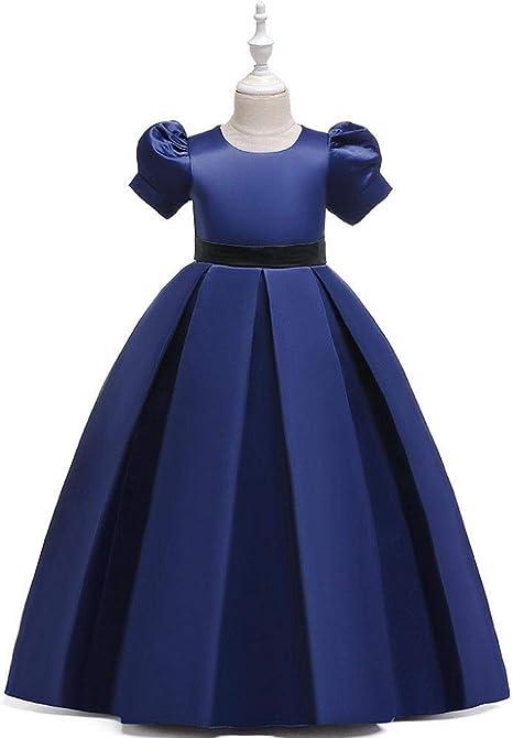 VJGOAL Vestidos de Princesa para niñas Vestido de Novia de cumpleaños Vestido de Noche Largo Vestido de tutú de Fiesta de Manga Corta: Amazon.es: Ropa y accesorios
