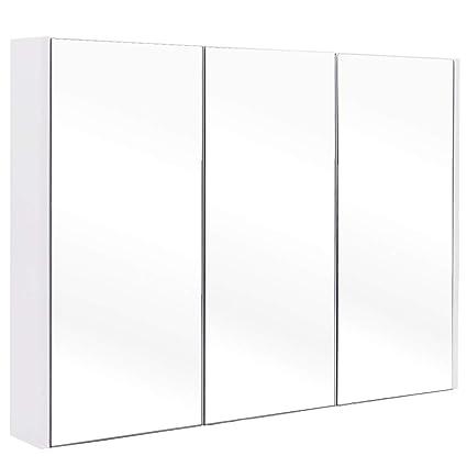 Amazon Com Tangkula 36 Wide Wall Mount Mirrored Bathroom Medicine