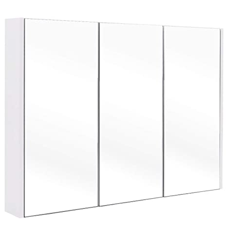Amazon Tangkula 36 Wide Wall Mount Mirrored Bathroom Medicine