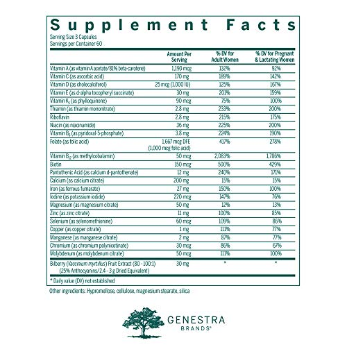 5db616179a539 Genestra Brands - Pregna Vite - Supports Healthy Pregnancy with Folic Acid,  Vitamin D and Iron* - 180 Capsules