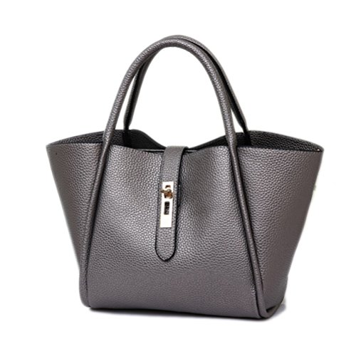 Color Scissor Women's Fashion PU Leather Shoulder Bags Tote Bags Top-Handle Handbag (Fashion Pu Shoulder Bag)