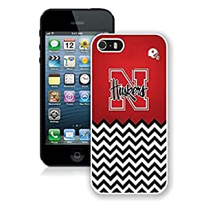 iPhone 5 5S Case ,Unique And Fashionable Designed Case With Nebraska Huskers White For iPhone 5 5S Phone Case