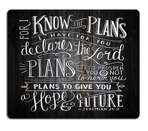 SPEEON Gaming Mouse Pad Custom,Vintage Bible Verse Scripture Quotes Psalms Sayings on Deadwood,Non-Slip Thick Rubber Large Mousepad