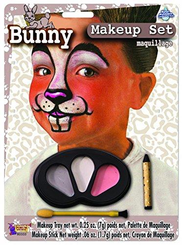 Forum Novelties Bunny Makeup Kit for Children - Halloween Animal Face Paint for Kids, One -