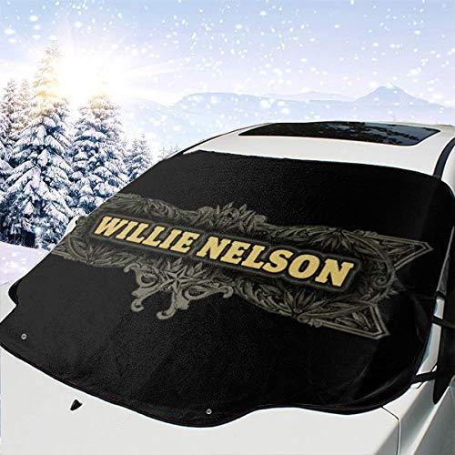 2longxizhu Willie Nelson Pattern Car Windshield Cover Waterproof Sunscreen UV