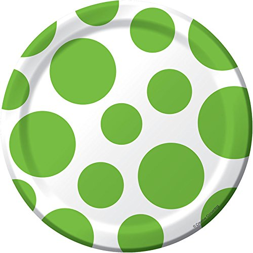 Creative Converting 1 X Lime Green Polka Dots Dessert Plates]()