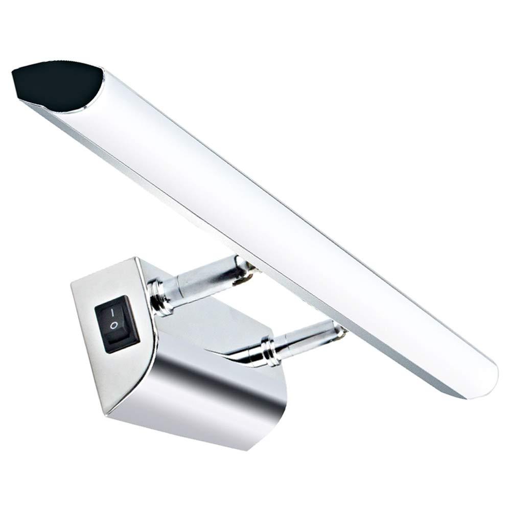 Luxvista 5W 30CM Aplique Espejo Ba/ño LED Impermeable para Apliques Ba/ño /Ángulo Ajustable L/ámpara de Espejo con Interruptor Luz Espejo Ba/ño Interior Blanco C/álido Pared Armario