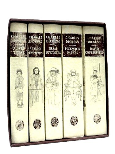 Charles Dickens, 7 Volume Set. Folio Society. (A Tale of Two Cities, Christmas Books, David Copperfield, Great Expectations, Oliver Twist, Pickwick Papers, The Old Curiosity (Charles Dickens Christmas Set)