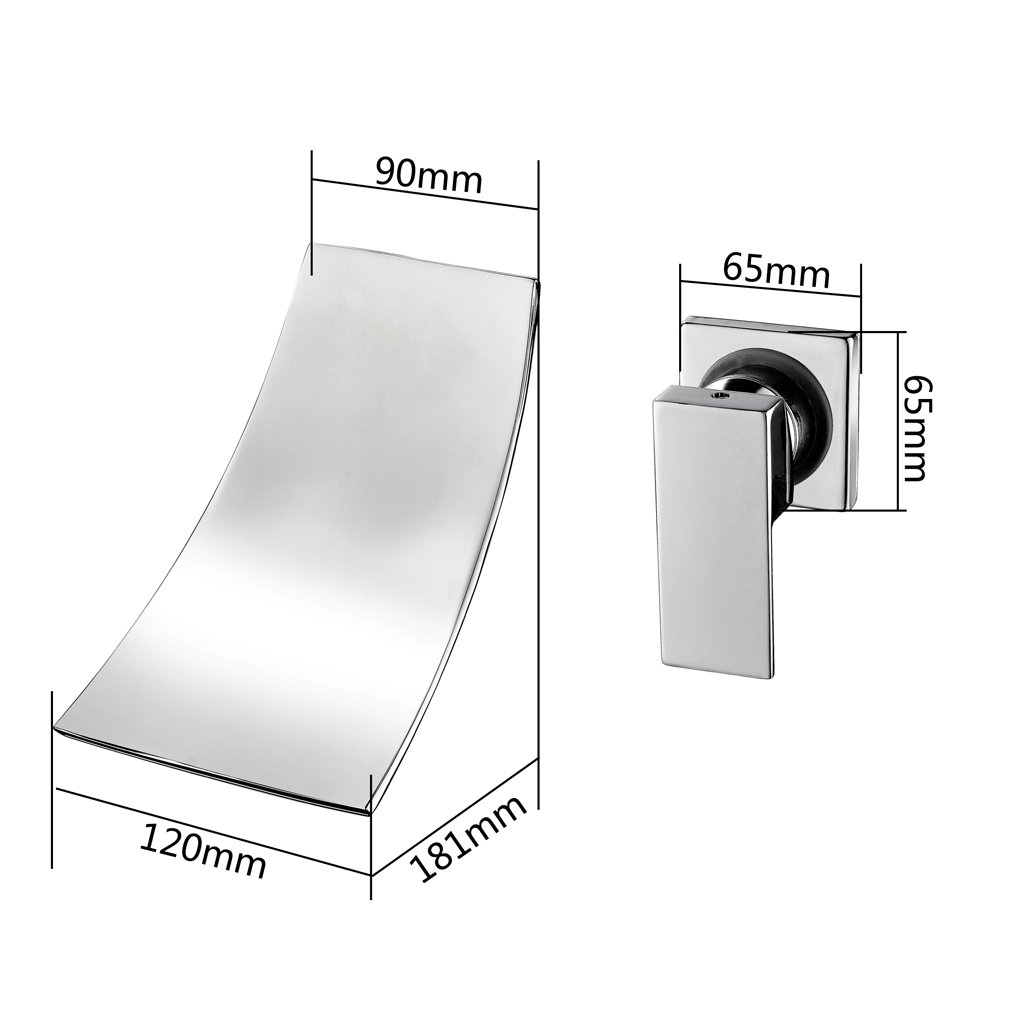 kinse® Elegante mezclador pared grifo grifo pared cascada lavabo ...