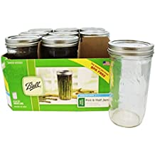 JARDEN HOME BRANDS 1440065500 Ball Wide Mouth Mason Jars, 24 oz(Pack of 9)