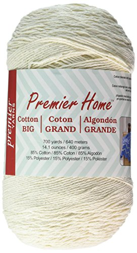 Premier Yarns Solid Home Cotton Grande Yarn, Cream