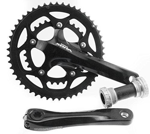 34t Compact Crankset - Shimano Sora FC-3550 9 Speed Road Bike Compact Crankset + BB 50/34T 170mm NEW