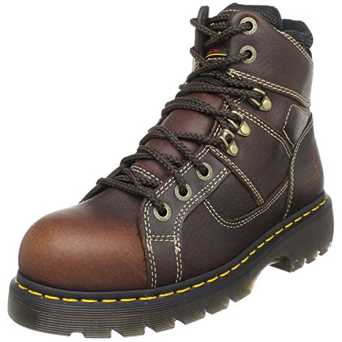 Dr. Martens Ironbridge Safety Toe Boot,Teak,7 UK/9 M US Women's/8 M US Men's