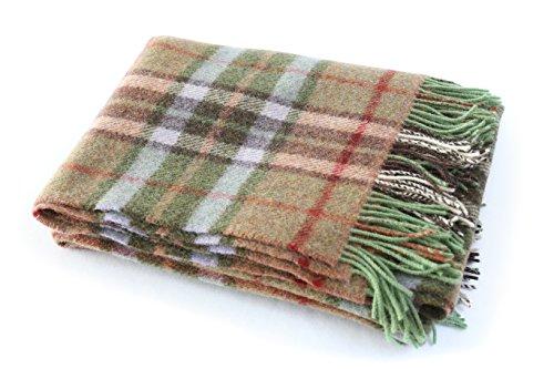 Biddy Murphy Plaid Wool Blanket Throw 100% Wool Soft 54