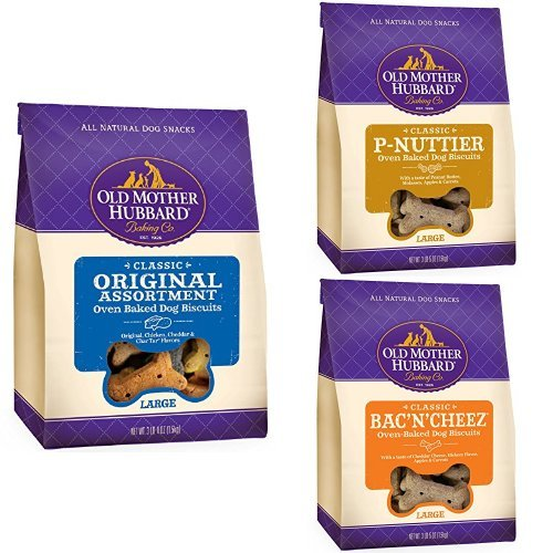 Wellness Natural Pet Food Old Mother Hubbard Crunchy Classic Natural Large Biscuits Variety Pack (Pack of 3)