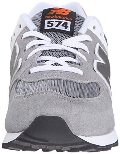New Balance KL574P1G Schuhe grey-orange - 38