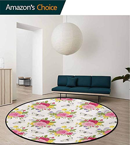 Non-slip Area Rug Home 3D Rose Design Small Carpet Living Room Bedroom Floor Mat