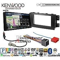 Volunteer Audio Kenwood DNX874S Double Din Radio Install Kit with GPS Navigation Apple CarPlay Android Auto Fits 2009-2011 Kia Borrego