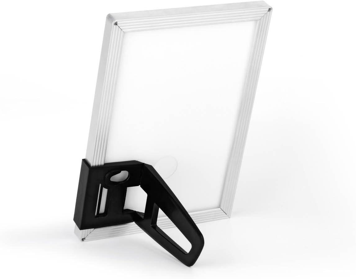 Argento Metallizzato Durable 494223 Duraframe Photo Desk Cornice Portafoto da Tavolo con Pannello Frantale Magnetico 10 x 15