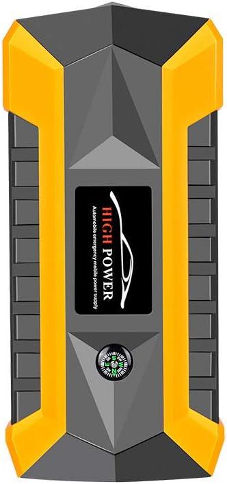 YLOVOW Coche 600A 20000mAh portátil del Salto del Coche Arranque mergency Booster Pack de batería con USB de Carga Dual Salidas, Linterna LED, Y Compás,89800mAh: Amazon.es: Deportes y aire libre