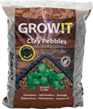 : GROW!T GMC10L Clay Pebbles 10 Liter Bag, 4mm-16mm