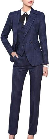 Amazon Com Lisueyne Women S Three Pieces Office Lady Blazer Business Suit Set Women Suits For Work Skirt Pant Vest And Jacket Clothing
