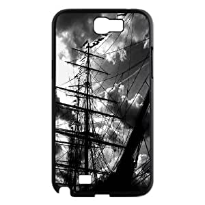 Fggcc Sailboat Silhouette on the Ocean Durable Case for Samsung Galaxy Note 2 N7100,Sailboat Silhouette on the Ocean Note2 Phone Case (pattern 10)