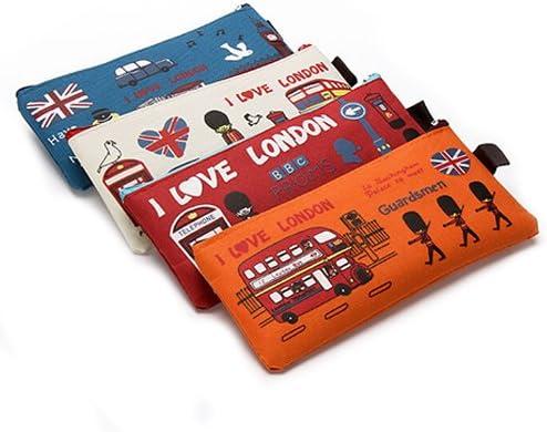 BADALink 4 Pcs Estuche Portalápices de Tela Lona para Guardar lápices plumas para estudiantes: Amazon.es: Oficina y papelería