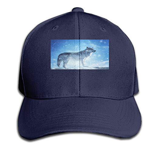 - Alpine Animal Wolf Adjustable Baseball Cap Classic Curved Sunhat Dome Navy
