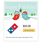 Dominos Birds Under Mistletoe Gift Cards - E-mail Delivery