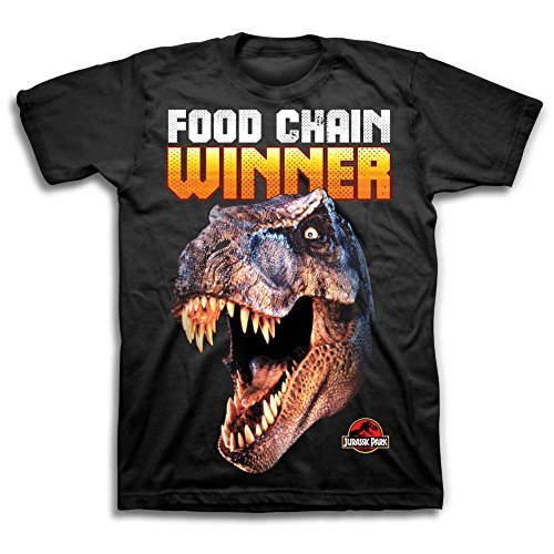 Jurassic Park Boys Dinosaur Shirt Park 'Food Chain Winner' Tee World T-Rex Shirt (7)
