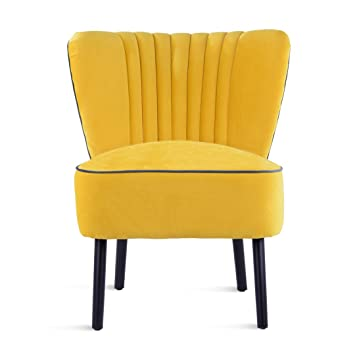 Great Lula Accent Chair, Velvet Cocktail Chair, Mid Century Modern Armchair,  Living Room