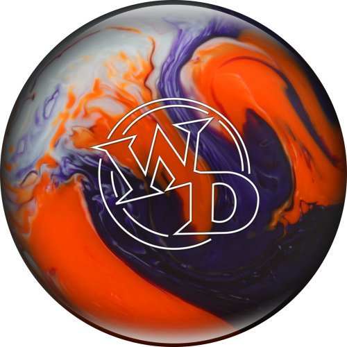 Columbia 300 White Dot Crystal Sunset Bowling Ball, Purple/Orange/White, 6 lb