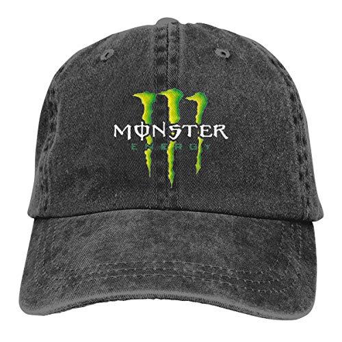 e5618bf9b81 SUZETTE MUNOz Adjustable Monster Energy Cowboy Cotton Ball Hat Baseball Cap  Comfortable and Breathable Black