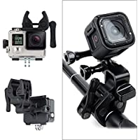 Sportsman Mount for Gopro,Philonext Fixing Clip Gun/Fishing Rod/Bow/Rifle/Barrel/Barrel Clamp for GoPro Hero 3+Hero4, Garmin VIRB Ultra 30 and YI Camera